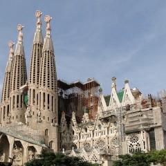 La Sagrada Familia, iglesia histórica de Barcelona